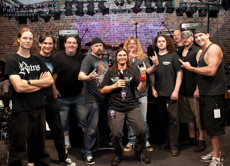Steve Grimmett - Empires of Eden Road crew and band!